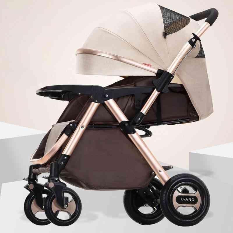 Two Way High Landscape Baby Stroller-newborn Pram