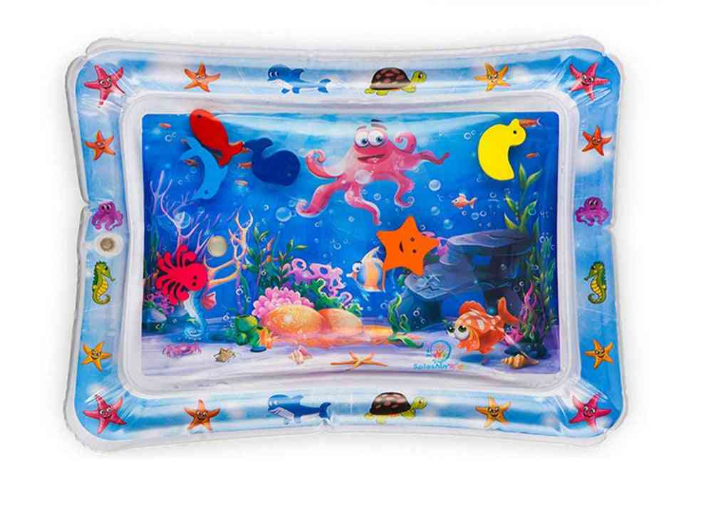 Cartoon Kids Water Play Mat -ocean World Inflatable Thicken Pvc Pad