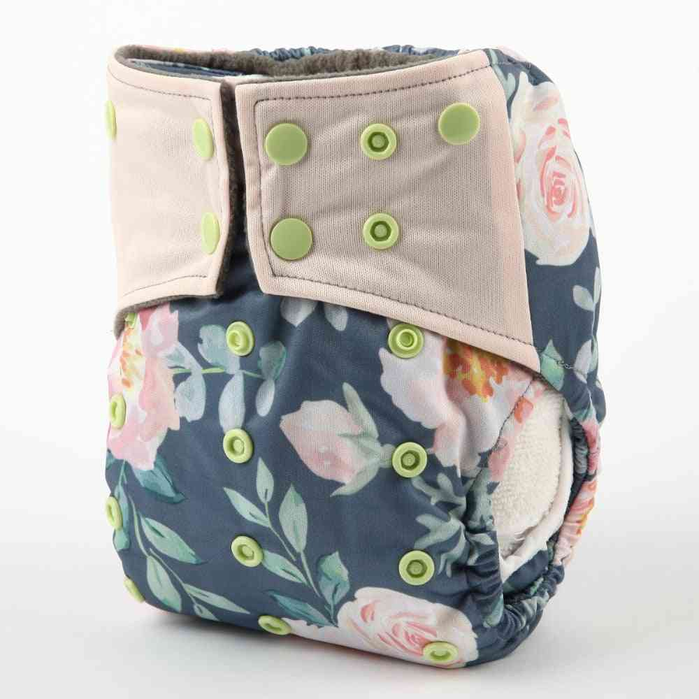 Bamboo Charcoal Reusable Baby Cloth Diaper With Pockets