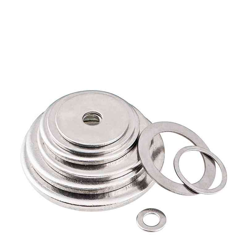 10pcs Of 304 Stainless Steel Gasket, Ultra-thin Flat Washer