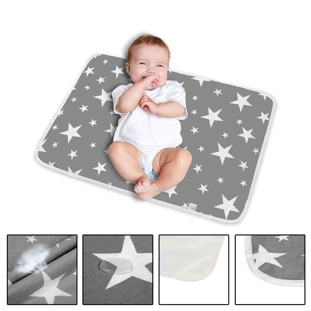 Portable Changing Mat Sheets, Waterproof Newborn Baby Diapers Washable Covers Sports Toy