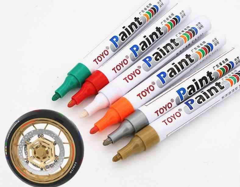Waterproof Lasting, Tire Tread Rubber Fabric Paint Pen