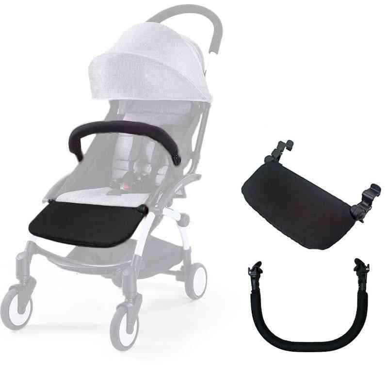 Stroller Armrest Bumper Bar, Footrest Footboard Pushchairs Pram Part