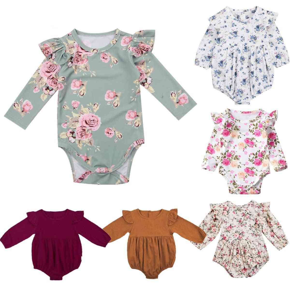 Long Butterfly Sleeve Romper, Outfits Playsuit, Jumpsuit Floral Clothes