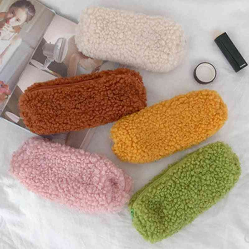 Wool Pencil Case For Student - Bag Storage Pouch