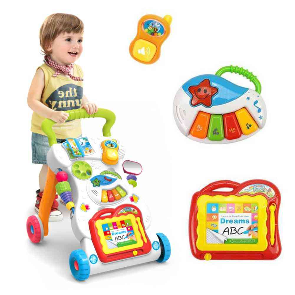 Baby Stroller, Music Walker Toy, Anti-rollover Learning Machine