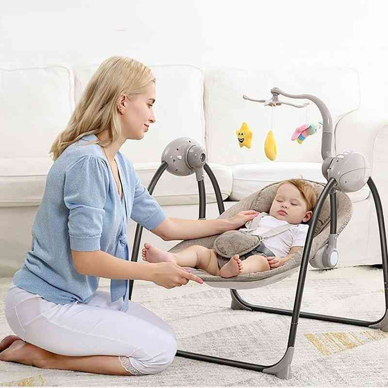 Multi-functional Rocking Chair For Newborm Baby Sleeping, Swing Bouncer Soothing Electric Cradle