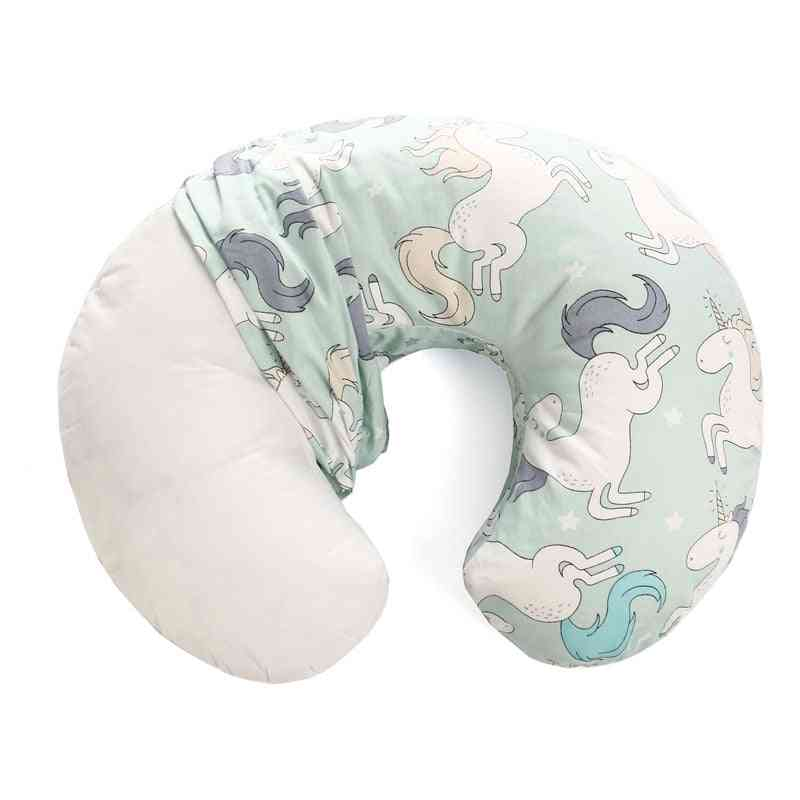 Baby Pillow Cover- Kids Cartoon Print U Shape Slipcover