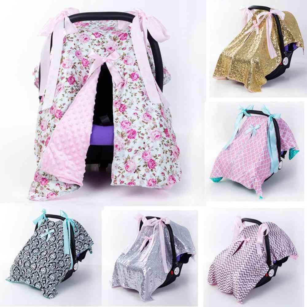 Newborn Baby Soft Safety Car Seat, Canopy Nursing Blanket Cover