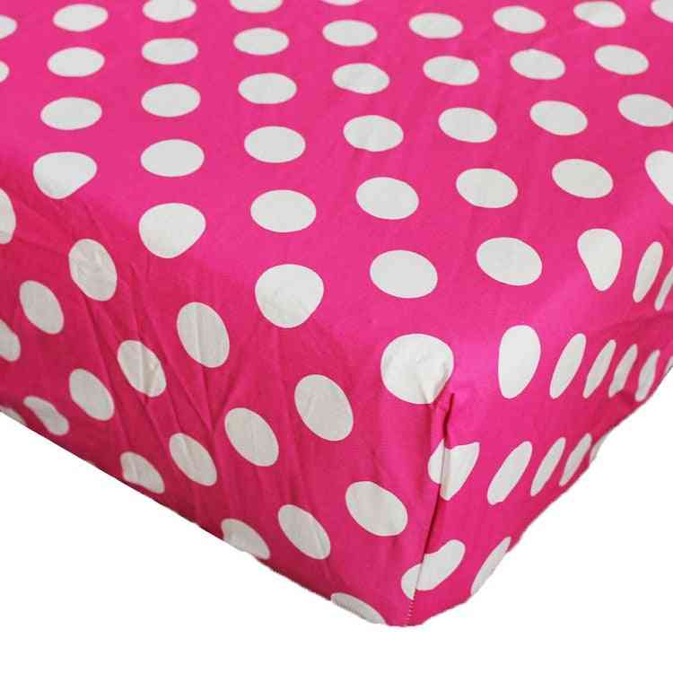 Cotton Cartoon Printed Crib, Fitted Sheet For Baby Bed