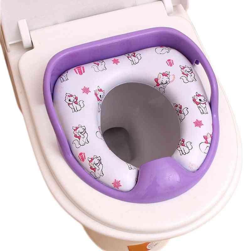 Comfortable Baby Potty Seat Pad, Cartoon Soft Pu Travel Toilet