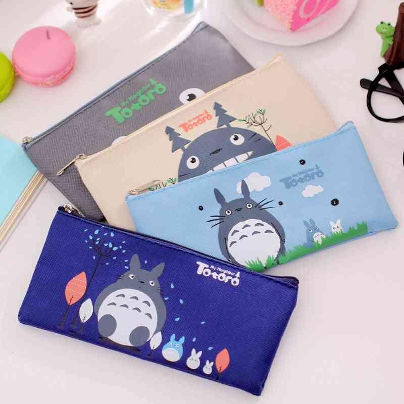 Cute Kawaii Fabric Pencil Case, Lovely Cartoon Totoro Pen Bags