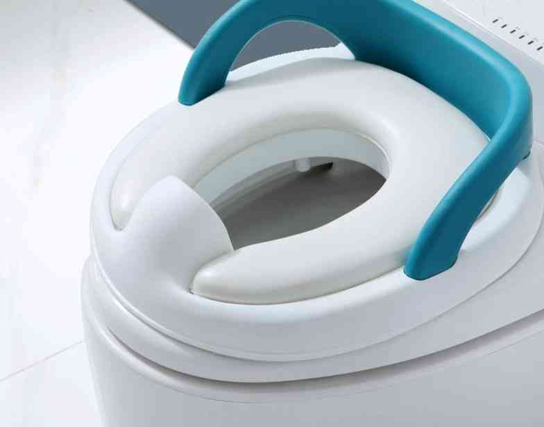 Soft Cushion Baby Toilet Seat With Handle Common Use
