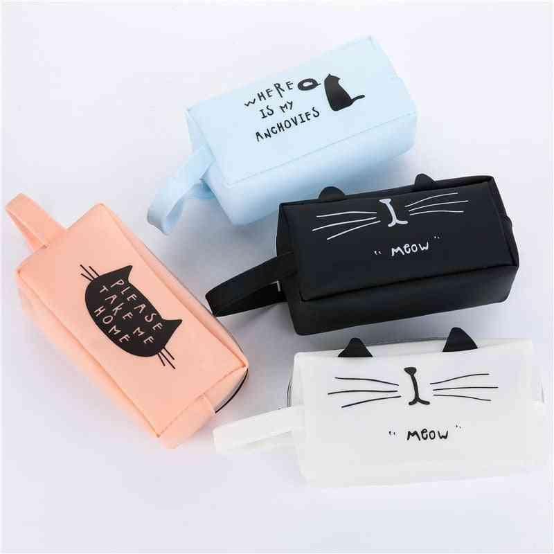 Creative Kawaii Cat School Pencil Cases / Bags, Cute Gel Pen Large Capacity Box