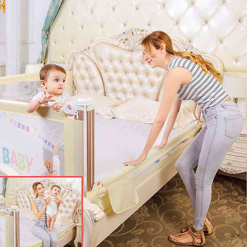 Baby Bed Bumper Fence With Safety Gate- Child Barrier
