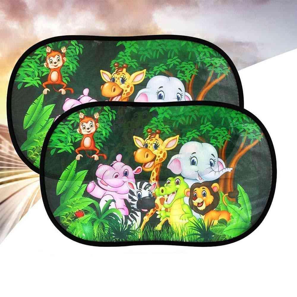 Animal World Cartoon Print Sunlight Protecting Shield