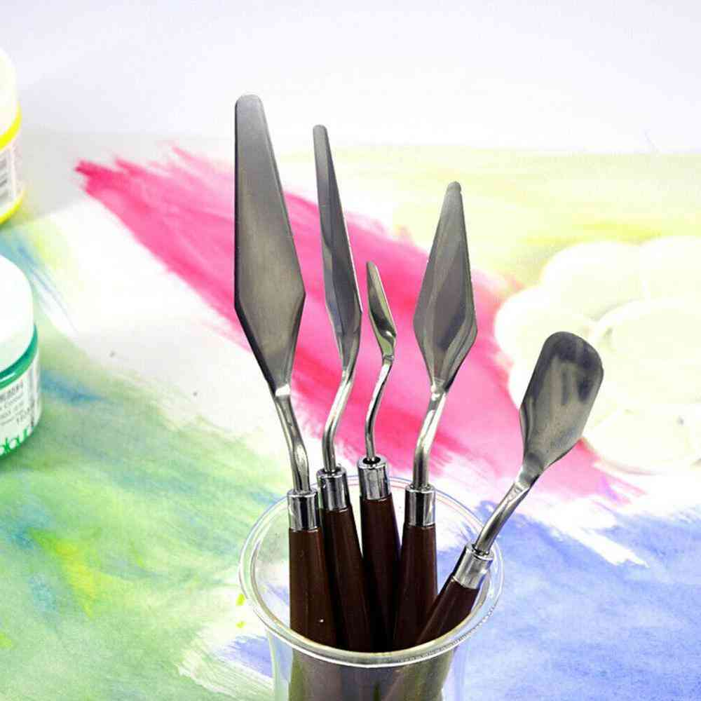 Professional Stainless Steel Spatula Kit-palette Knife For Oil Painting