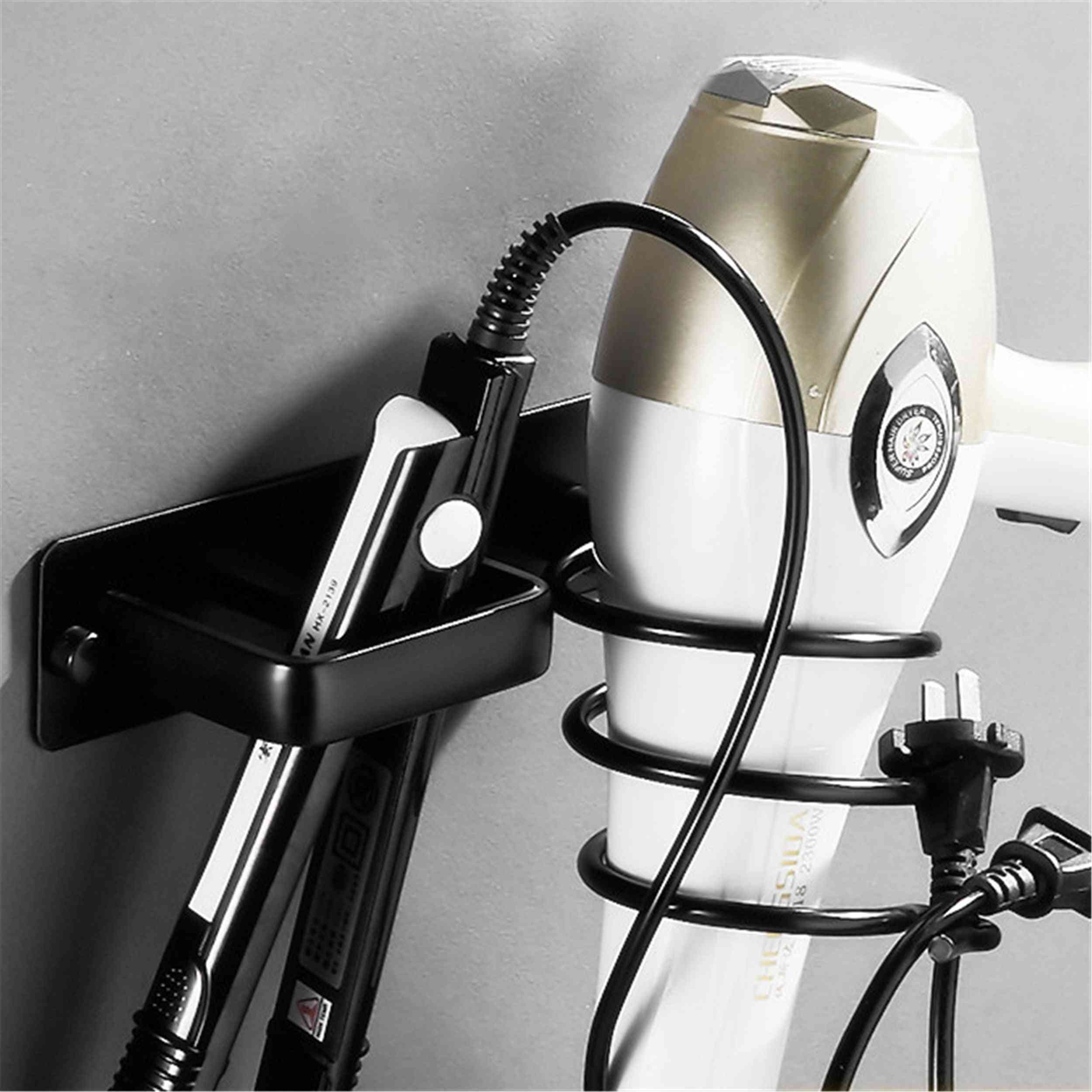 Wall Mounted Bathroom Hair Dryer Holder