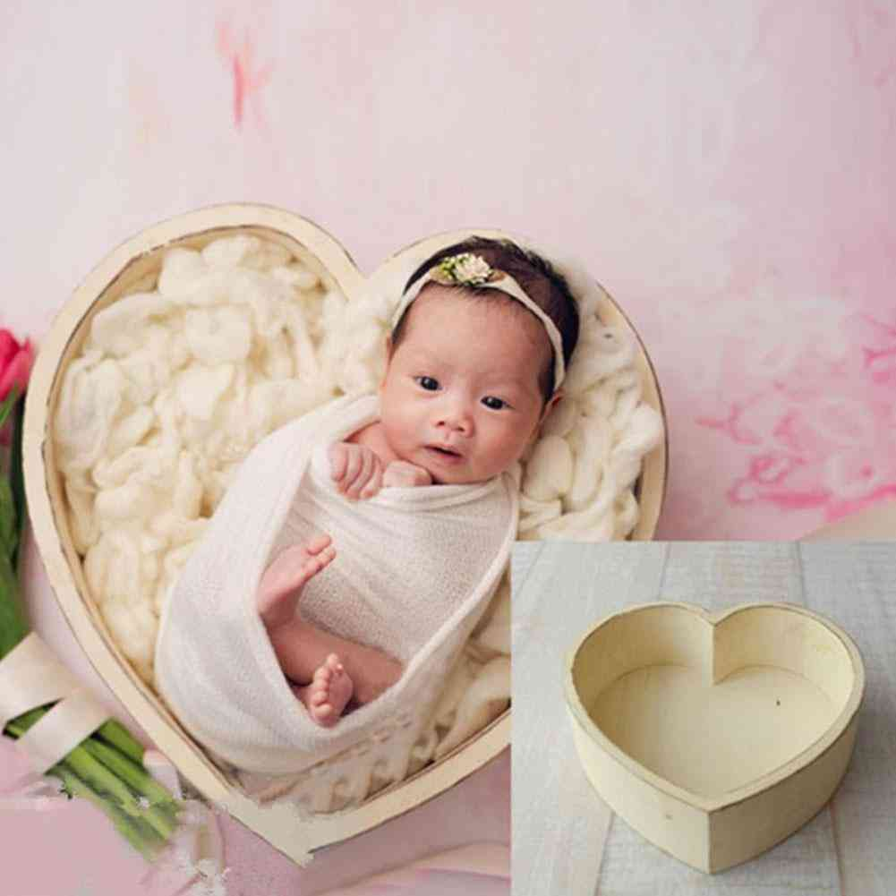 Newborn Baby Photography Love Shape Bed Props Small For &