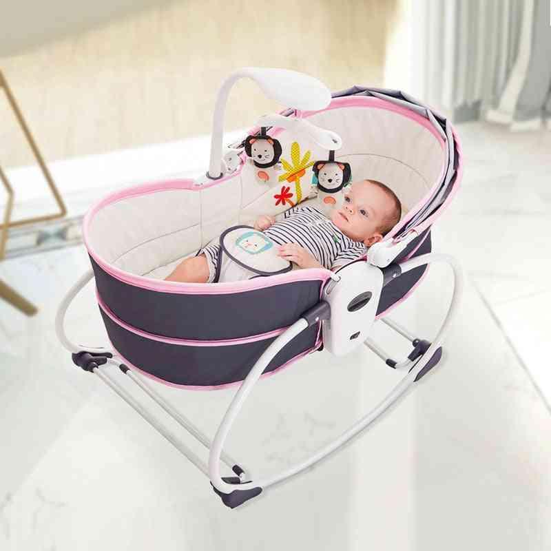 Baby Bed Cradle Rocking Chair, Shaker Recliner Basket Nest