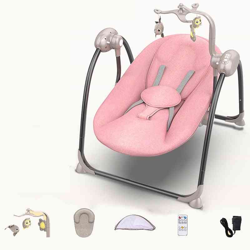Baby Rock Chair, Swing Electric Cradle With Remote Control Bed
