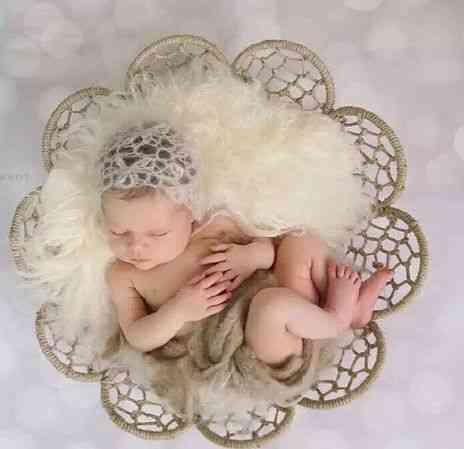 Newborn Posing Blanket, Baby Shoot Studio Props Poses Outdoor Photography Bucket At Sunset