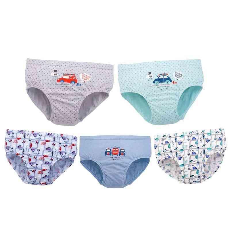 Panties Cartoon Cotton, Breathable Briefs Cars, Bus, Printed Comfortable Underwear/