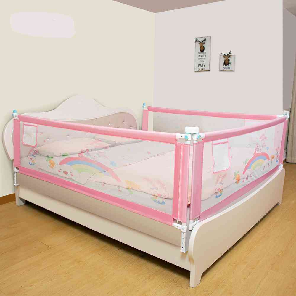 Adjustable Crib Rail -child Safety Fence, Protective Barrier For Kids Bed