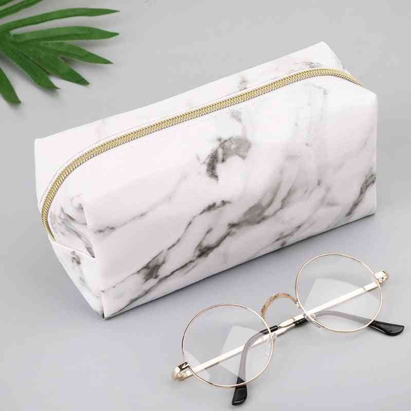 Large Cute Pencil Case-marble Pattern