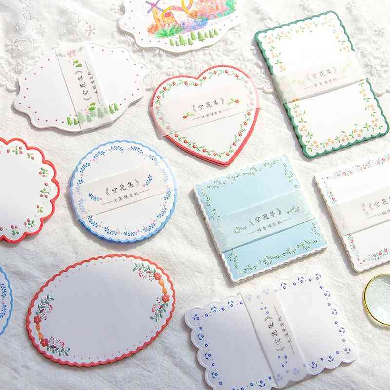 Flower Lace Series Message Notepad