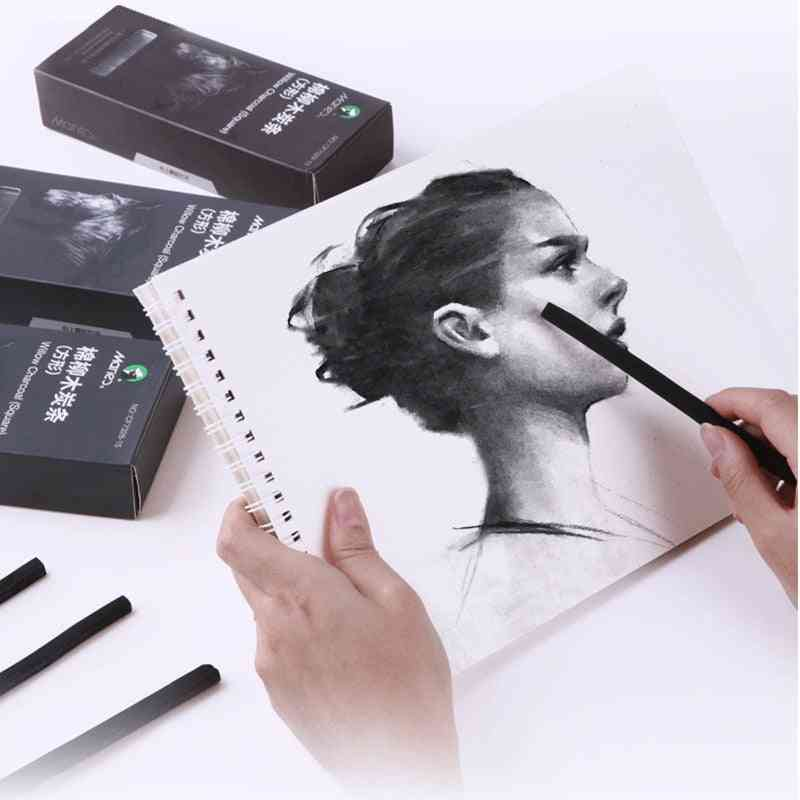 Soft Charcoal Sketch Carbon Pen Strip Rod Painting For Art Supplies