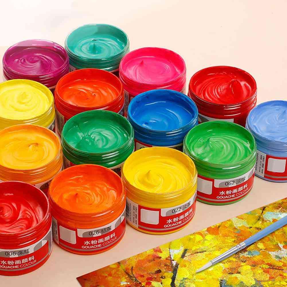 Gouache Box Paints Healthy Draw Learner Practice Pigment