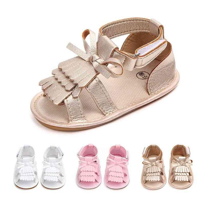 Newborn Infant Baby Sandals, Prewalker Non-slip Hollow Princess Summer Tassel Pu Leather Shoes