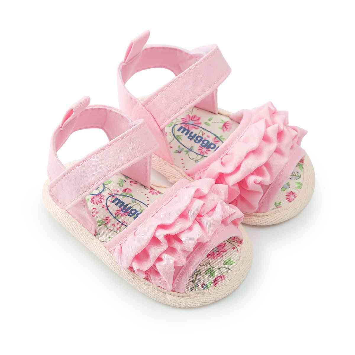 Flower Pattern,  Anti-slip Crib Sandals For Newborn Babies