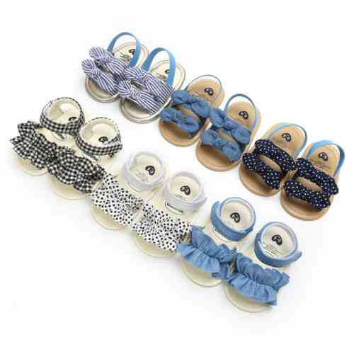 Soft Sole Crib Sandals Shoes For Kids