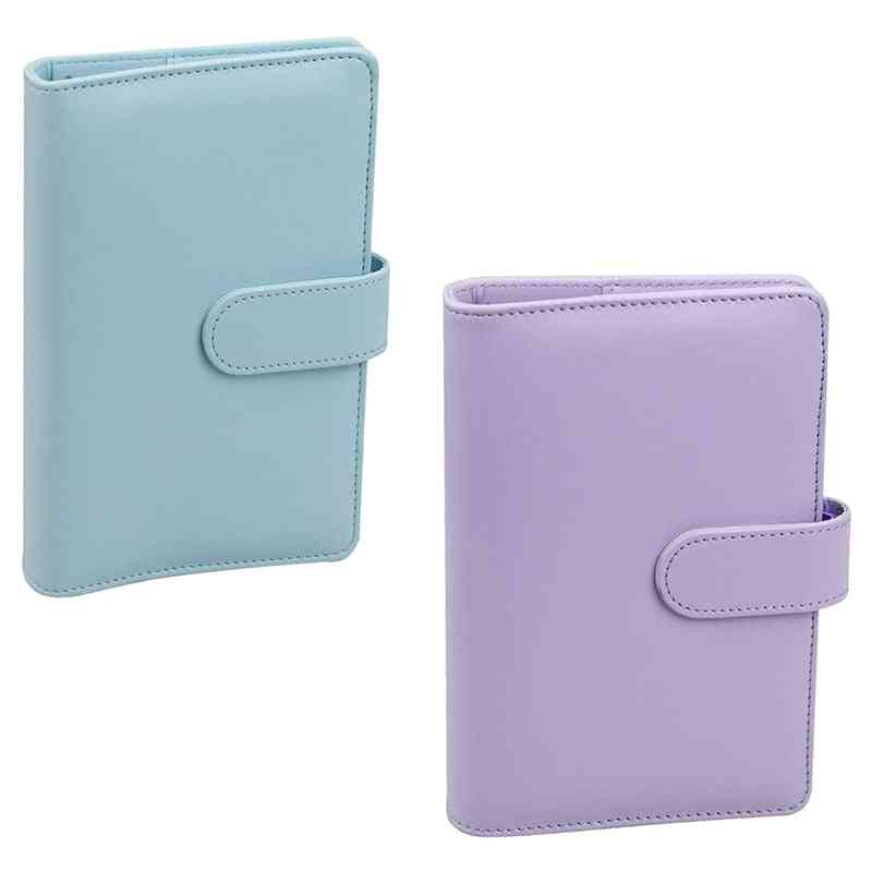 A6-pu Leather Notebook Binder With Netic Buckle