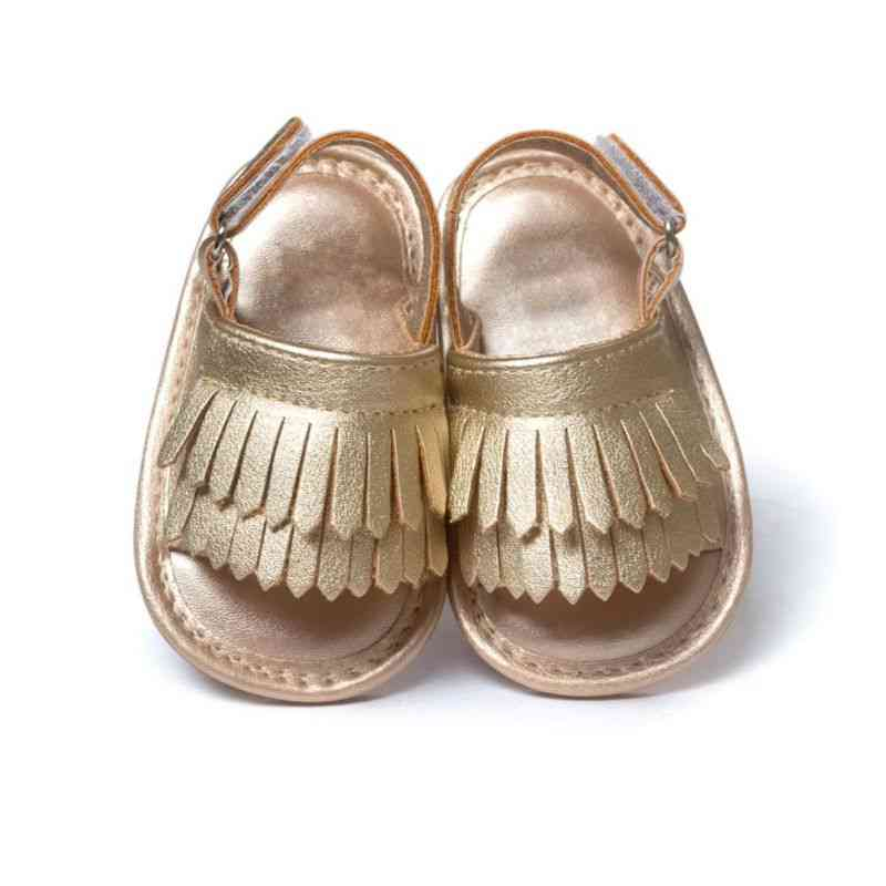 Summer Leisure Fashion Baby Sandals, Pu Tassel Clogs Shoes
