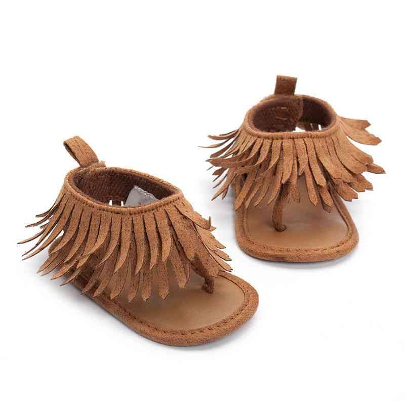 Infant Baby Girl Soft Sole Shoe, Tassels Non-slip Arrival Sandals Moccasin