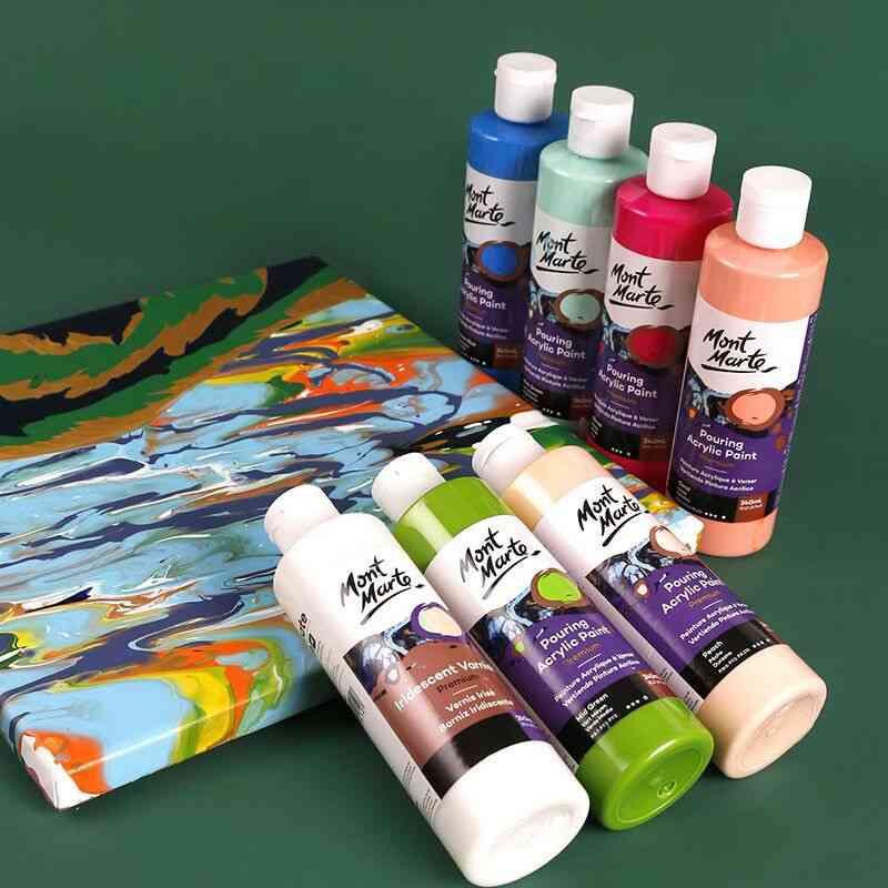 Pigment Acrylic Paint Set, Fluid Canvases-oil Drawing Art