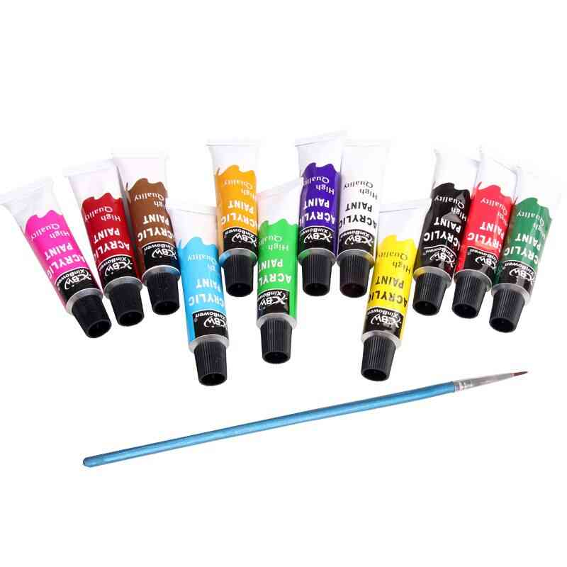 Profession Acrylic Paints Set- Wall Drawing Fabric Tools