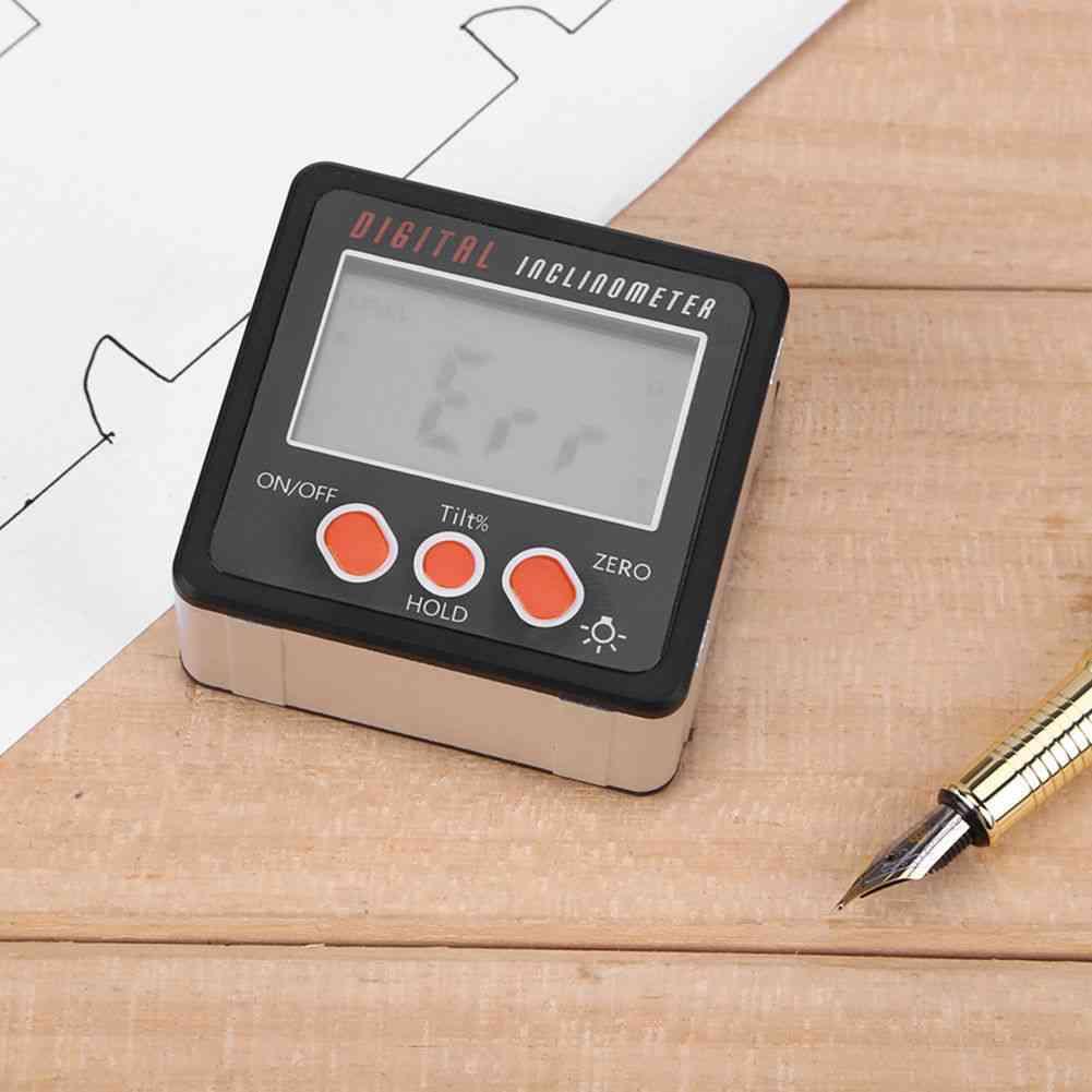 Lcd Mini Digital Protractor Inclinometer