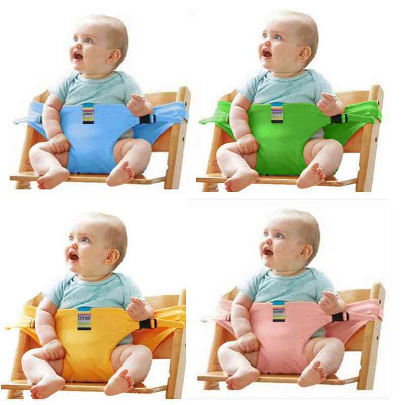 Baby Portable High Chair Booster, Safety Seat Strap