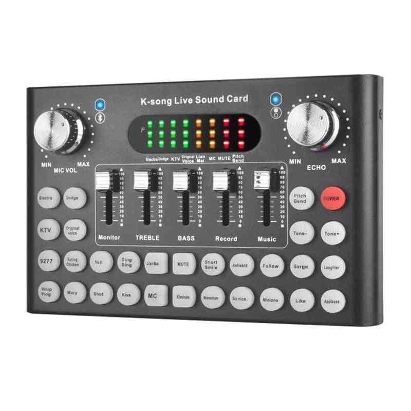 Sound Card For Voice Converter, O Dj Mixer, Live Broadcast