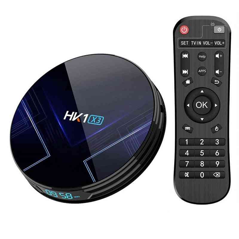 Smart Tv Set-top Box With 4gb Ram , 32gb Rom Supports Dual Wifi Bluetooth
