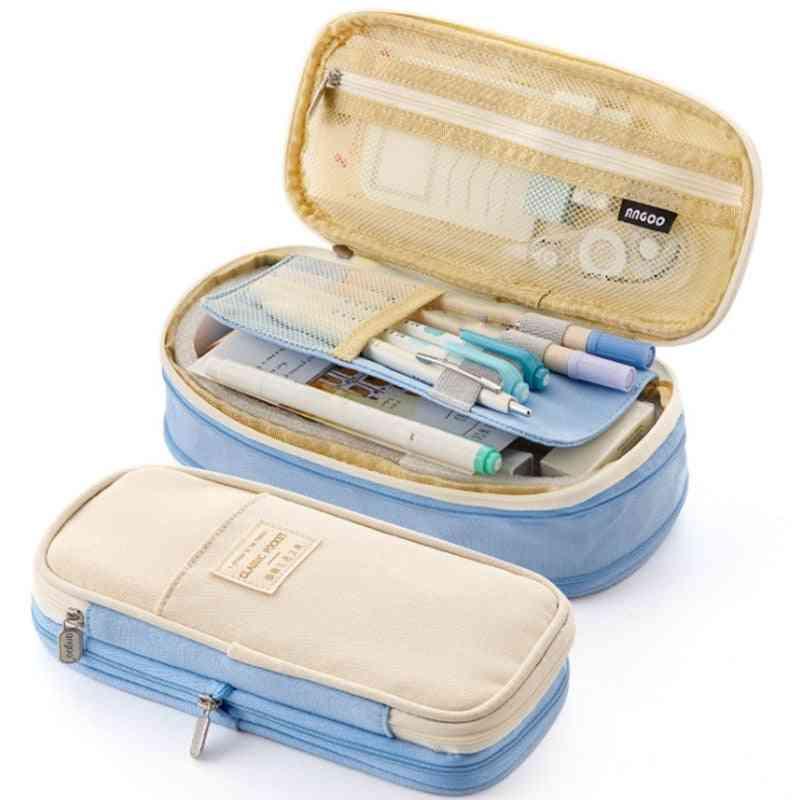 Large Storage Capacity, Canvas Pencil Case
