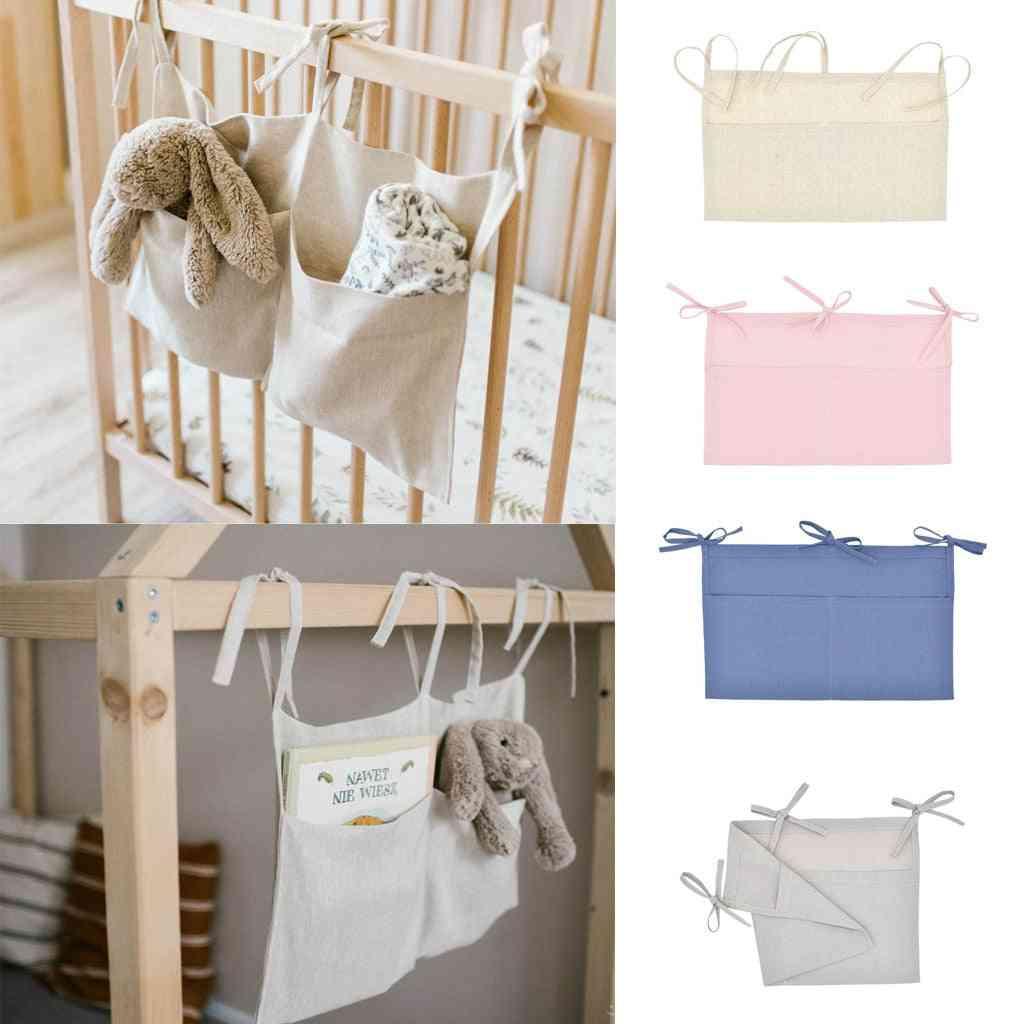 Baby Bedside Storage Bag,  Hanging Crib Organizer