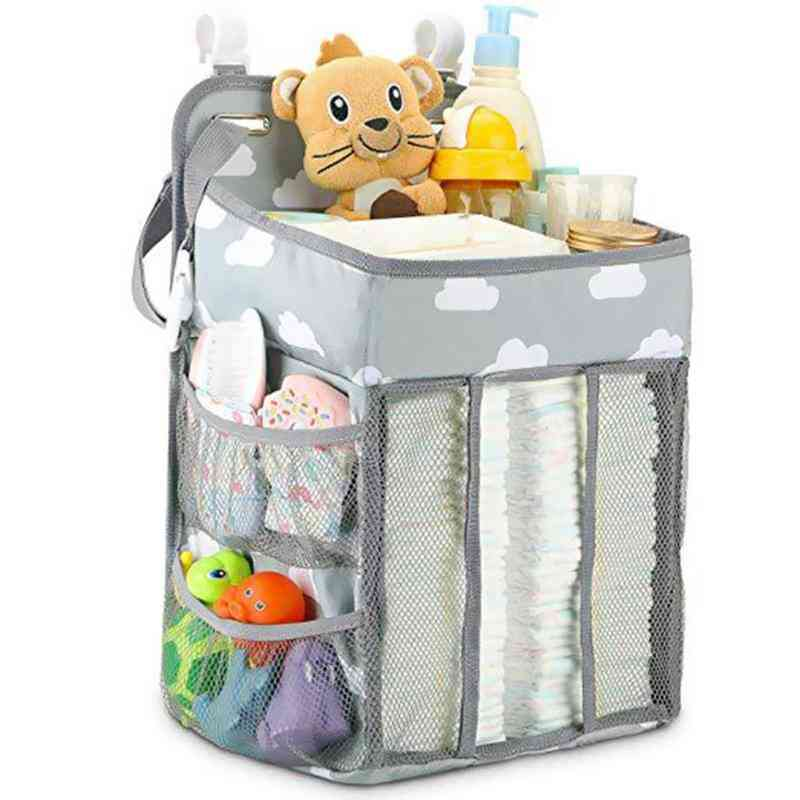 Portable Baby Diaper Organizer- Bed Holder