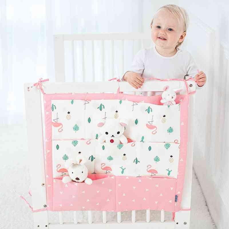 Printed Crib Organizer- Hanging Cotton Bag With Pockets