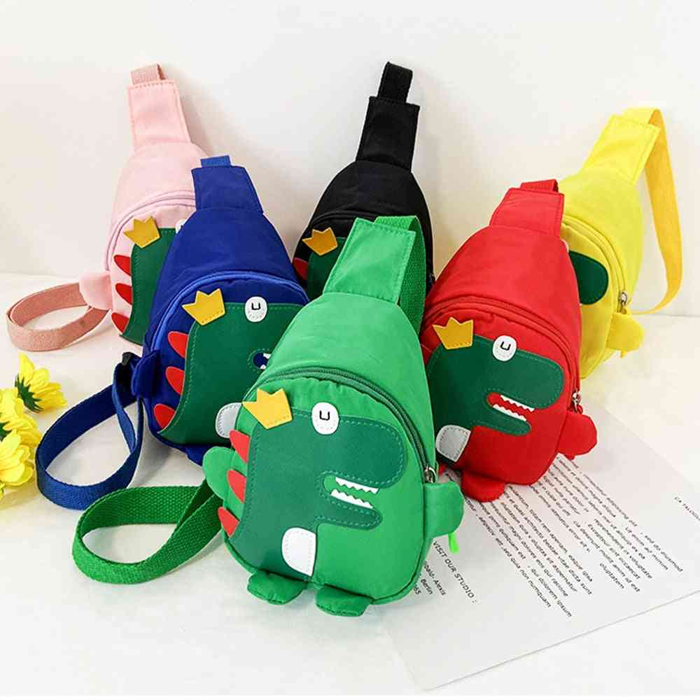 Cute Cartoon Harness Outdoor Travel Backpack, Cross Body Dinosaur Chest Bag For's
