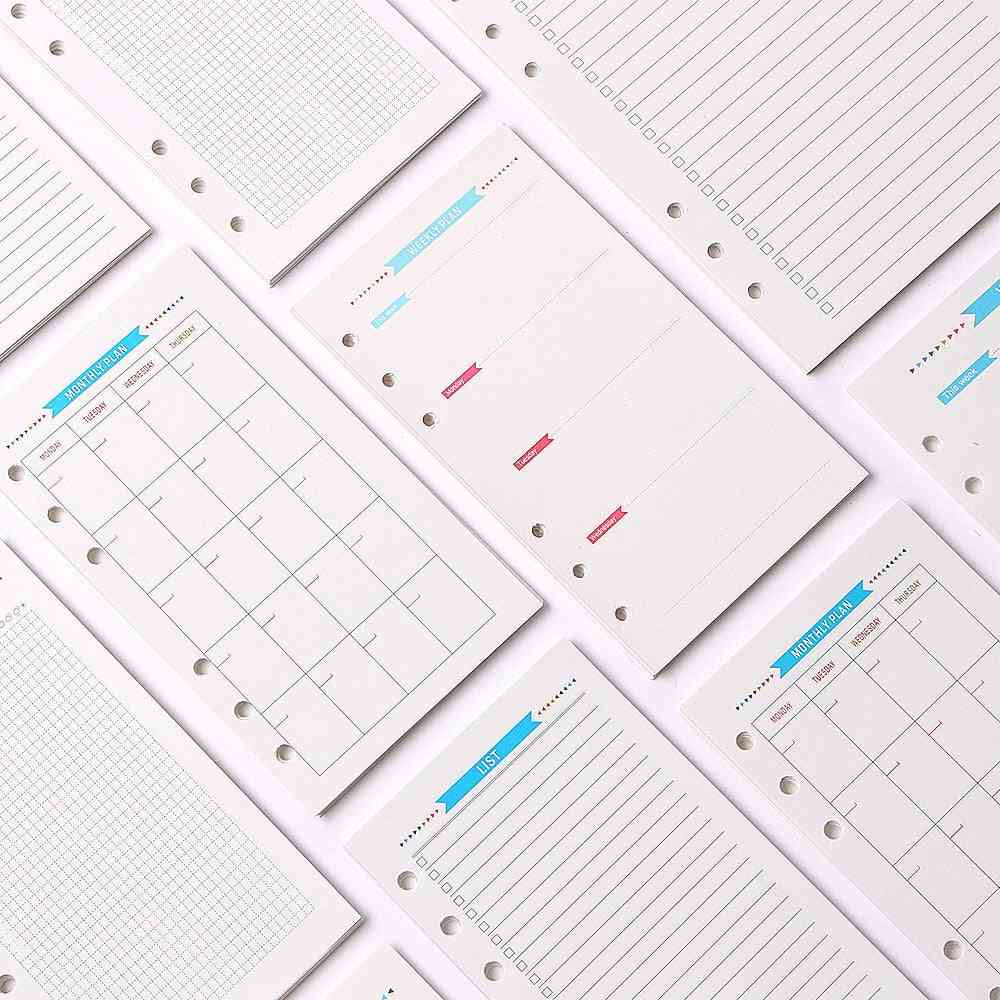 Refill Inner Paper With 6 Puched Hole For Notebook And Planners